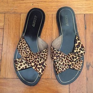 J.CREW cheetah print sandals